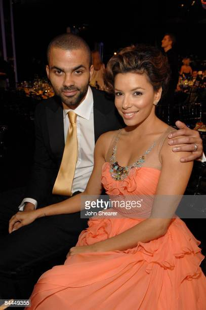 Player Tony Parker and Actress Eva Longoria Parker in the audience at the TNT/TBS broadcast of the 15th Annual Screen Actors Guild Awards at the...