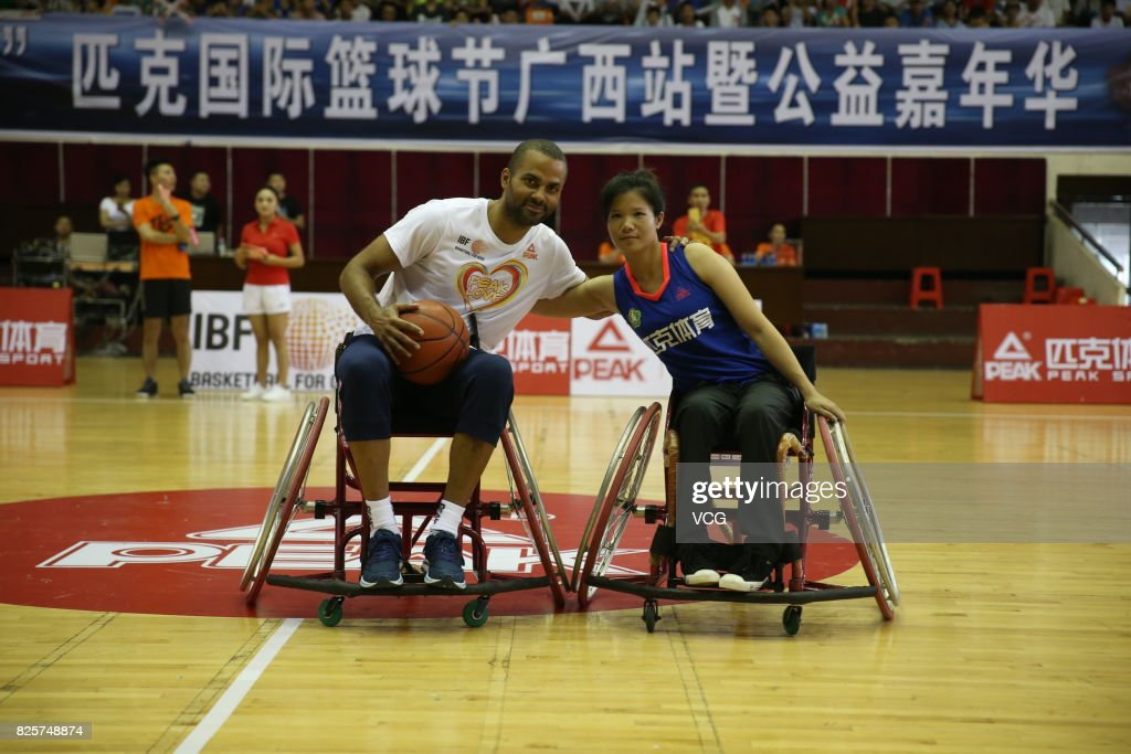 Tony Parker Visits Rehabilitation Center For Disabled Children In Guilin