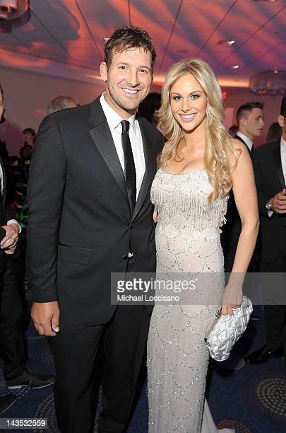 NFL player Tony Romo and Candice Crawford attend TIME/PEOPLE/FORTUNE/CNN White House Correspondents' Association Dinner Cocktail Party at the Hilton...
