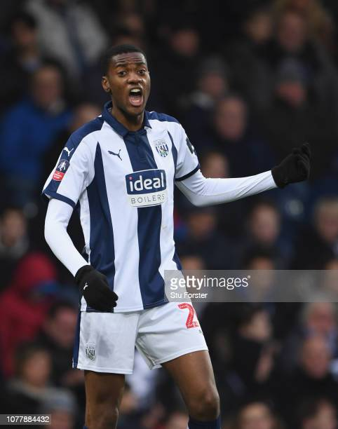 Player Tosin Adarabioyo during the FA Cup Third Round match between West Bromwich Albion and Wigan Athletic at The Hawthorns on January 5, 2019 in...