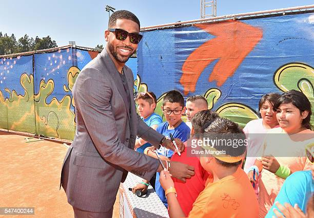 Player Tristan Thompson attends the Nickelodeon Kids' Choice Sports Awards 2016 at UCLA's Pauley Pavilion on July 14, 2016 in Westwood, California.
