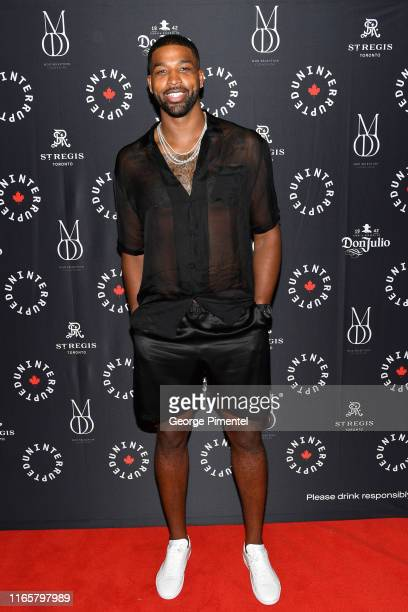 Player Tristan Thompson attends the Uninterrupted Canada Launch held at Louis Louis at The St. Regis Toronto on August 02, 2019 in Toronto, Canada.