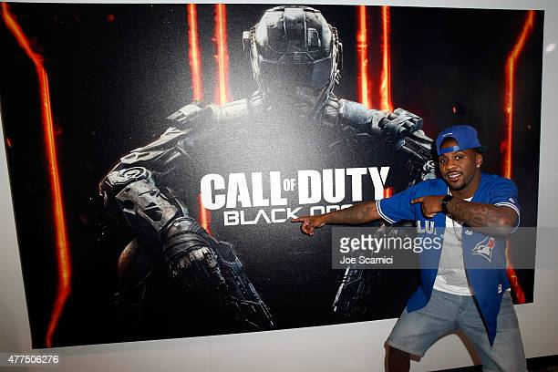 Player Ty Lawson visits Activision's Skylanders SuperChargers booth during E3 2015 at Los Angeles Convention Center on June 17, 2015 in Los Angeles,...
