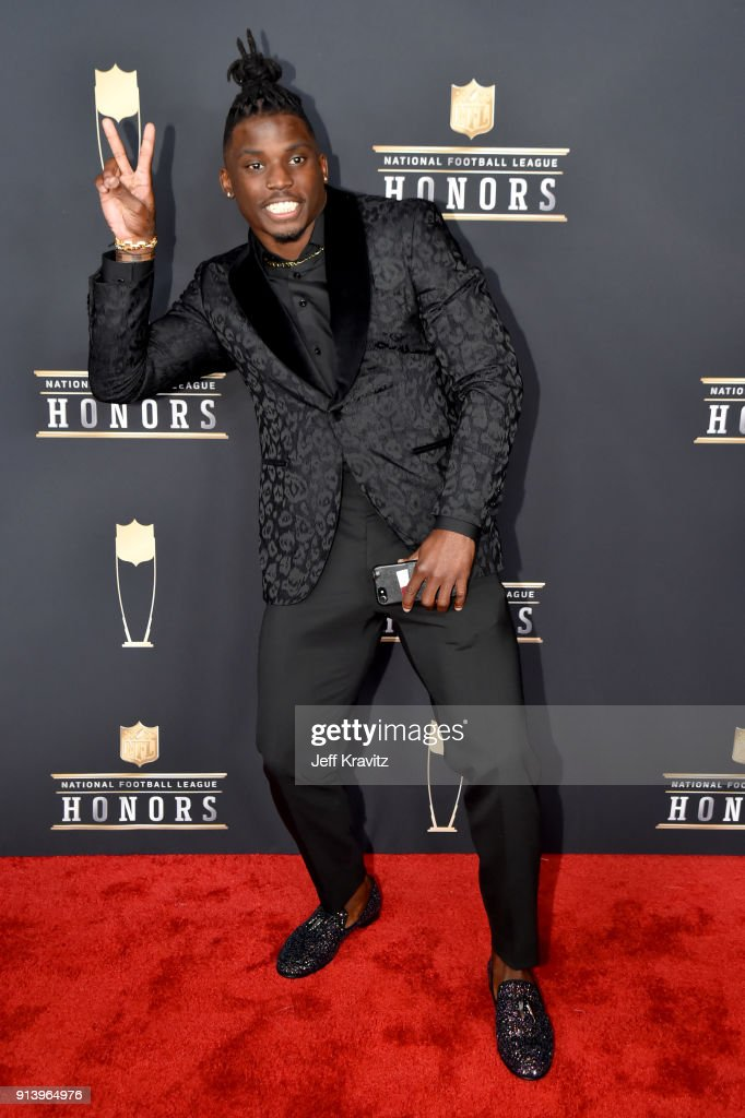 Player Tyreek Hill attends the NFL Honors at University of Minnesota on February 3, 2018 in Minneapolis, Minnesota.