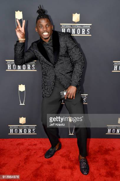Player Tyreek Hill attends the NFL Honors at University of Minnesota on February 3 2018 in Minneapolis Minnesota