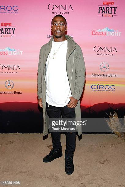 NFL player Tyrod Taylor attends ESPN the Party at WestWorld of Scottsdale on January 30 2015 in Scottsdale Arizona