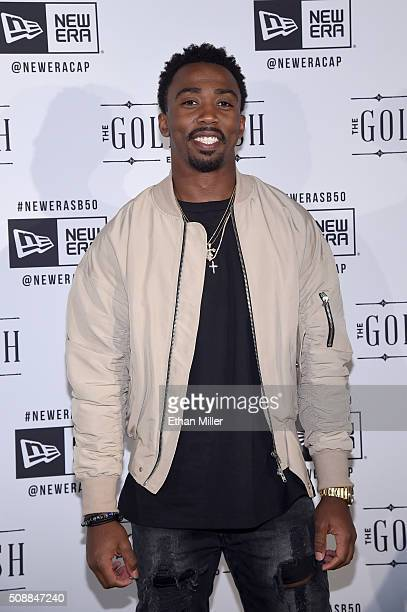 Player Tyrod Taylor attends the New Era Super Bowl party at The Battery on February 6, 2016 in San Francisco, California.