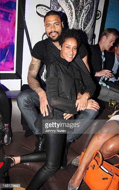 NBA player Tyson Chandler and wife Kimberly Chandler attend WiP on April 18 2012 in New York City