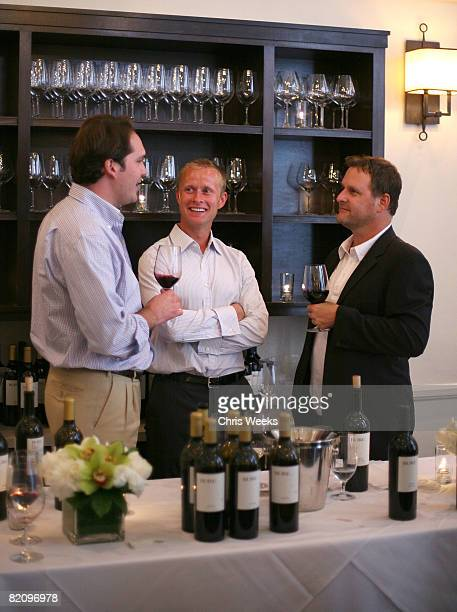 NHL player Valeri Bure and actor Dave Coulier attends the release of Bure Family Wines at Campanile on July 28 2008 in Los Angeles California