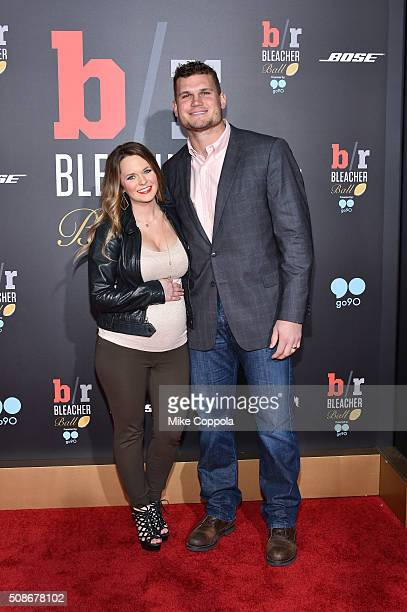 NFL player Vance McDonald and Kendi Davis attend Bleacher Report's 'Bleacher Ball' presented by go90 at The Mezzanine prior to Sunday's big game on...