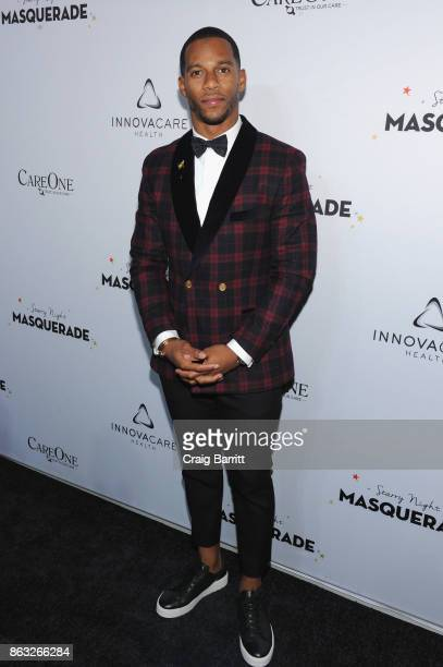 Player Victor Cruz attend Daniel E Straus CareOne Starry Night Masquerade For Puerto Ricoat Skylight Clarkson North on October 19 2017 in New York...