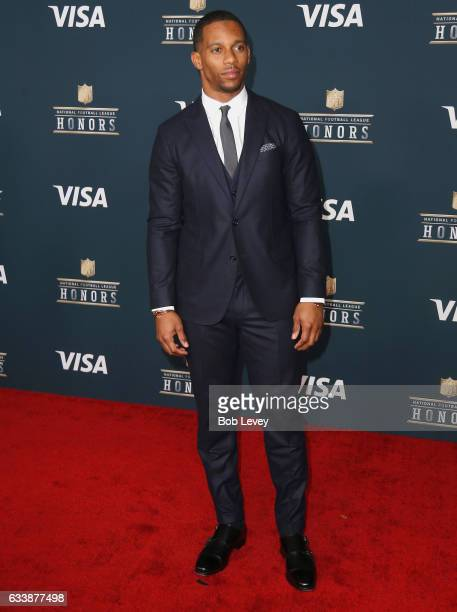 NFL player Victor Cruz attends 6th Annual NFL Honors at Wortham Theater Center on February 4 2017 in Houston Texas