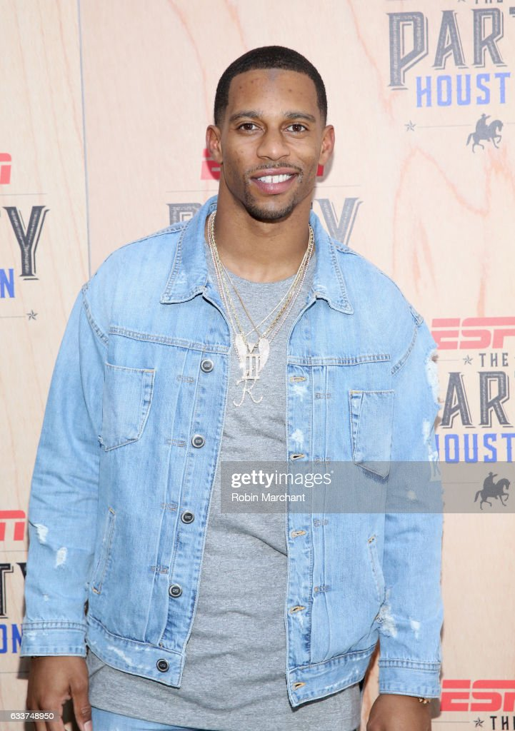 NFL player Victor Cruz attends the 13th Annual ESPN The Party on February 3, 2017 in Houston, Texas.