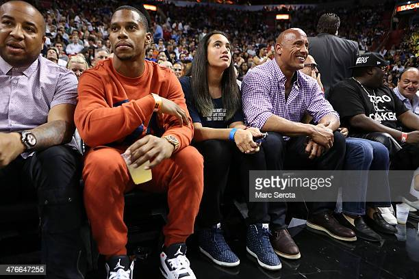 61e7e2da7ef NFL player Victor Cruz of the New York Giants and Actor and Wrestler Dwayne    The