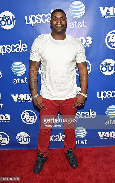 Player Vinny Curry attends Bronner Bros. 2015 Mid-Winter International Beauty Show at Georgia World Congress Center on February 22, 2015 in Atlanta,...