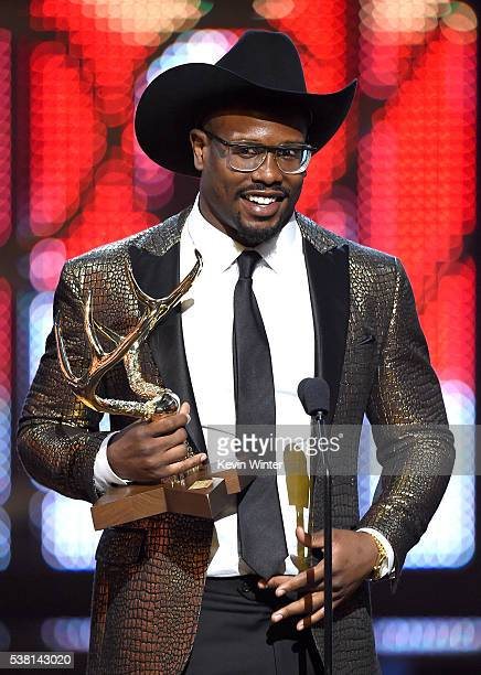 NFL player Von Miller accepts the Most Unstoppable Jock award onstage during Spike TV's 10th Annual Guys Choice Awards at Sony Pictures Studios on...