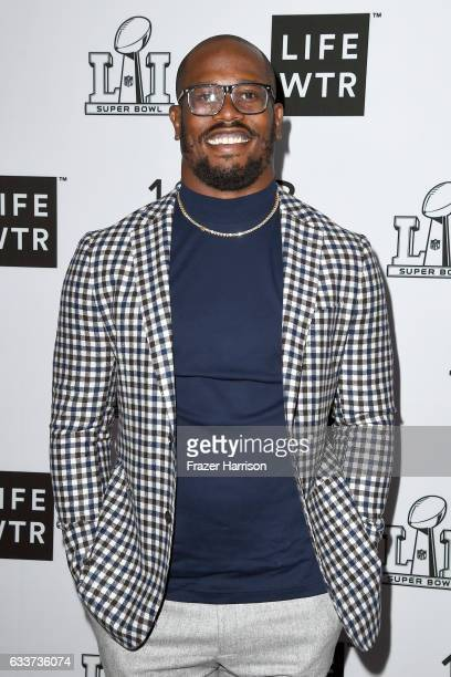 Player Von Miller attends LIFEWTR: Art After Dark, including 1893, at Club Nomadic during Super Bowl LI Weekend on February 3, 2017 in Houston, Texas.