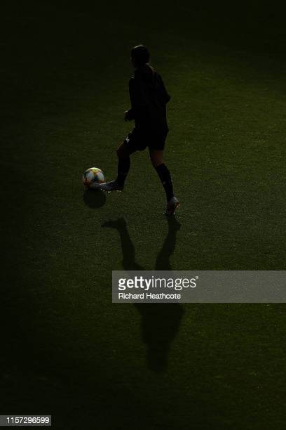 A player warms up before the 2019 FIFA Women's World Cup France group F match between Thailand and Chile at Roazhon Park on June 20 2019 in Rennes...