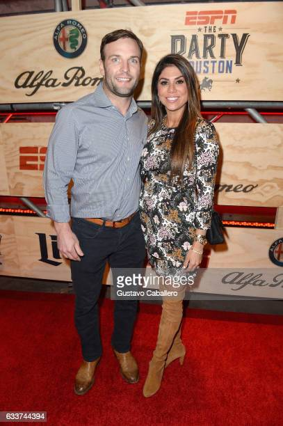 NFL player Wes Welker and Anna Burns attend the 13th Annual ESPN The Party on February 3 2017 in Houston Texas