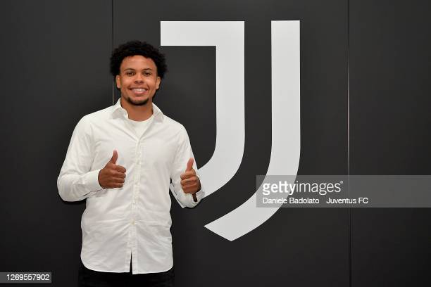 Player Weston McKennie signing for Juventus on August 28, 2020 in Turin, Italy.