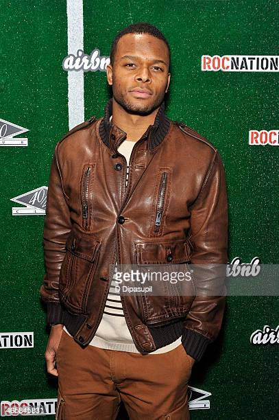 NFL player Will Allen attends the Airbnb Super Suite at Roc Nation Sports Airbnb's Welcome To New York event at 40 / 40 Club on January 29 2014 in...