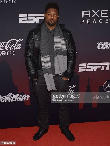 NFL playerCameron Jordan attends the ESPN The Party at Basketball City Pier 36 South Street on January 31 2014 in New York City