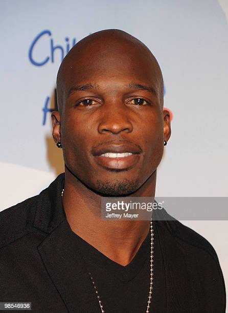 Player/DWTS Chad Ochocinco Johnson arrives at the at Children Mending Hearts Third Annual Peace Please Gala the Music Box Theatre on April 16 2010 in...