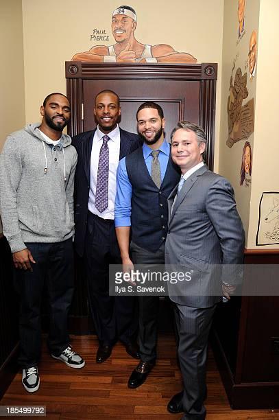 NBA players Alan Anderson Paul Pierce and Deron Williams and Jason Binn attend DuJour's Jason Binn's welcoming NY Nets Star Paul Pierce To NYC event...