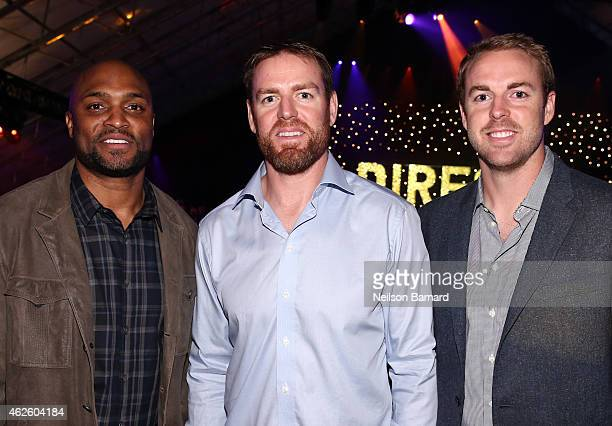 NFL players Amani Toomer Carson Palmer and Jordan Palmer attend DirecTV Super Saturday Night hosted by Mark Cuban's AXS TV and Pro Football Hall of...