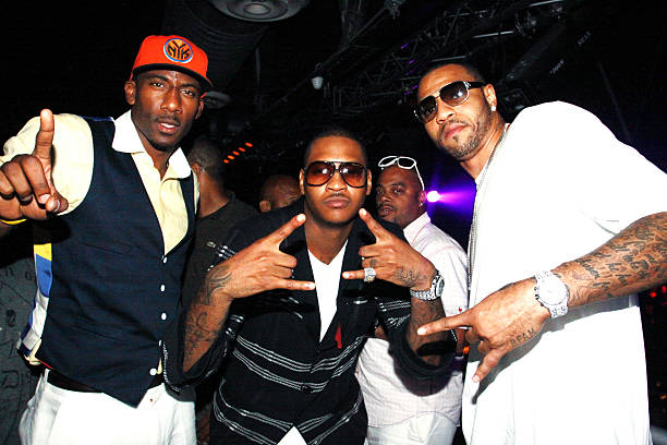 NBA Players Amare Stoudemire Carmelo Anthony And Kenyon Martin Attend La Vasquez