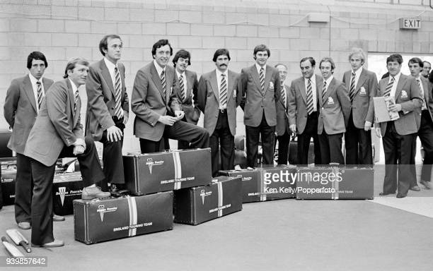 Players and management of the England cricket team prior to leaving for their tour of Australia 24th October 1978 Derek Randall Clive Radley Phil...