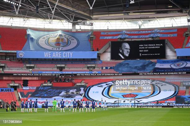 Players and officials observe a moments silence in memory of HRH Prince Phillip, The Duke of Edinburgh who passed away recently prior to the Semi...