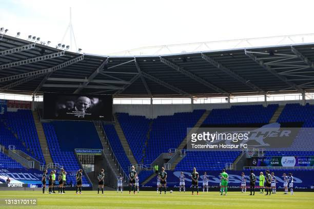 Players and Officials observe a period of silence to honour HRH Prince Philip, The Duke of Edinburgh whose funeral took place on April 17th during...