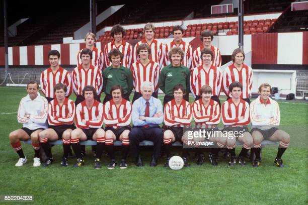 Players and officials of Brentford FC at the club's Griffin Park ground. Back row: Paul Walker, Nigel Smith, Gary Rolph, John Fraser and Paul Shrubb....