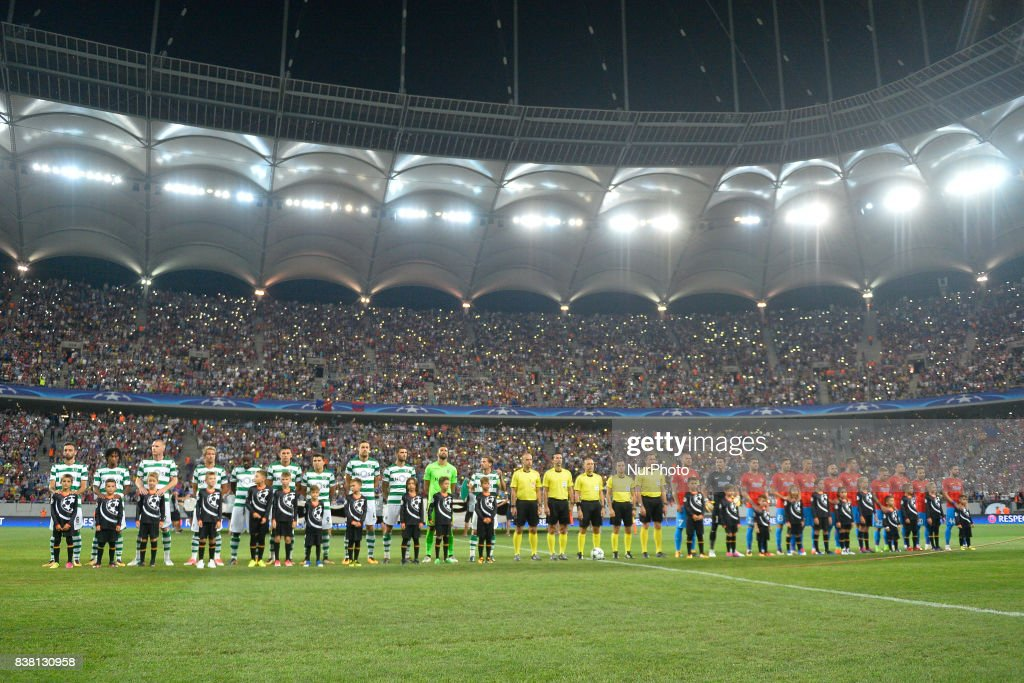 Steaua Bucarest v Sporting - UEFA Champions League Qualifying Play-Offs Round: second Leg : Foto jornalística