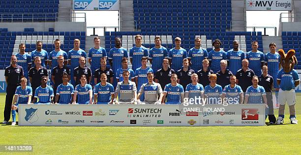 Players and staff of the German first division Bundesliga football team TSG 1899 Hoffenheim Sejad Salihovic Daniel Williams Matthias Jaissle Sven...