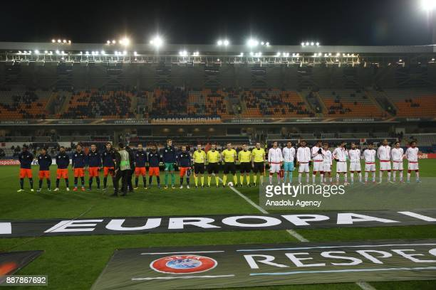 Players are seen during the UEFA Europa League Group C soccer match between Medipol Basaksehir and Braga at the Fatih Terim Stadium in Istanbul...
