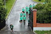 kazan russia players arrive ahead an