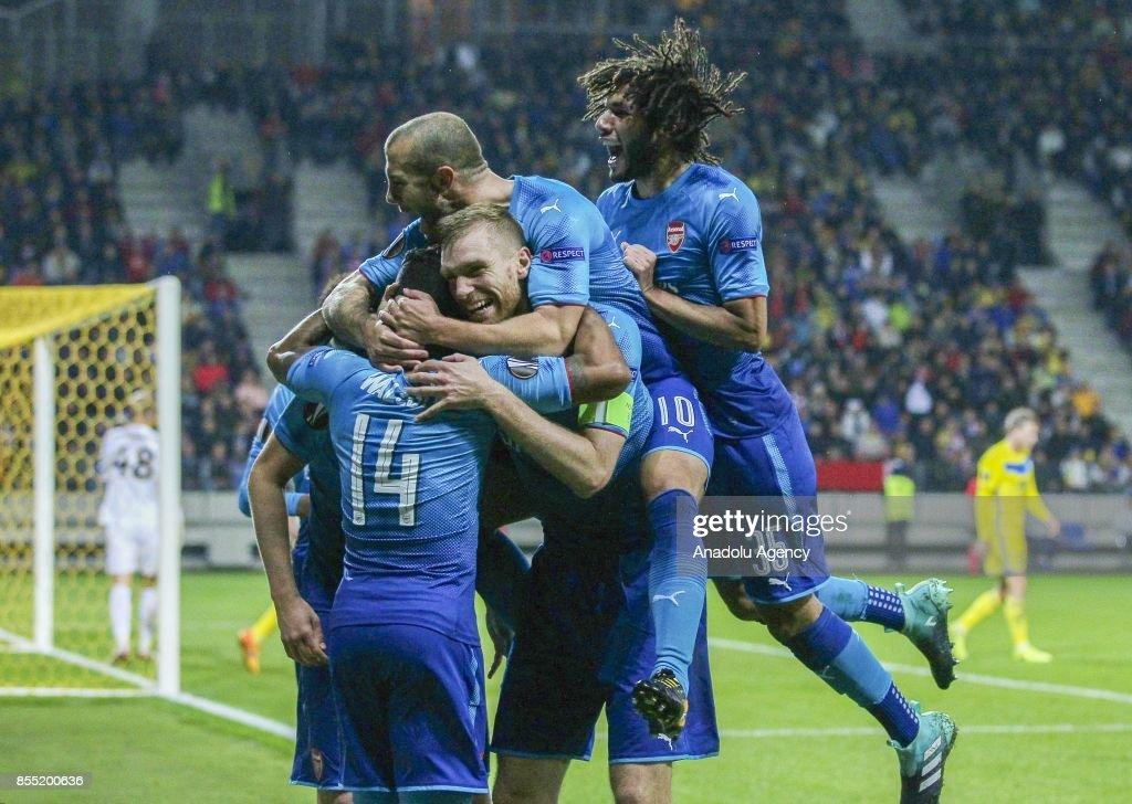BATE Borisov and Arsenal FC: UEFA Europa League : News Photo
