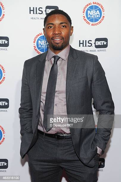 Players Association vice president Roger Mason Jr attends the HIS Official Launch Party at the Park Hyatt New York on February 12 2015 in New York...