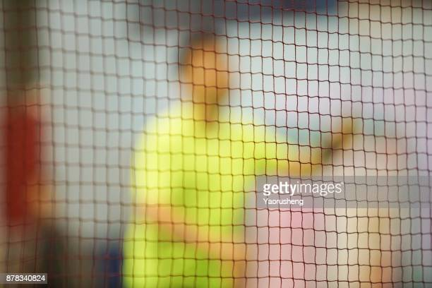 players badminton image blur - badminton imagens e fotografias de stock