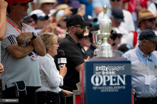 Players being introduced on the first tee during round 1 of The Australian Open Golf at The Australian Golf Club on December 05 2019 in Sydney...