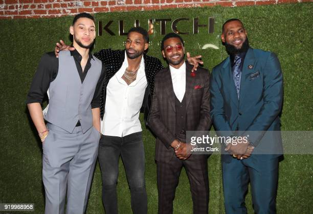 Players Ben Simmons Tristan Thompson John Wall and Lebron James attend attends the Klutch Sports Group More Than A Game Dinner Presented by Remy...