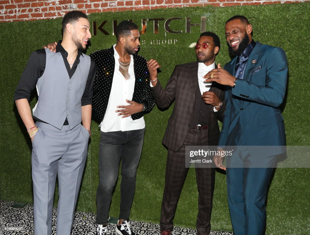 Players Ben Simmons, Tristan Thompson, John Wall and Lebron James attend attends the Klutch Sports Group 'More Than A Game' Dinner Presented by Remy Martin at Beauty & Essex on February 17, 2018 in Los Angeles, California.