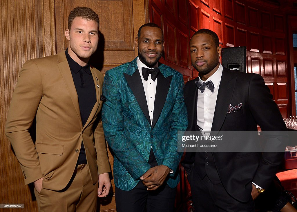 NBA players Blake Griffin, LeBron James, and Dwyane Wade attend GQ & LeBron James NBA All Star Party Sponsored By Samsung Galaxy And Beats at Ogden Museum's Patrick F. Taylor Library on February 15, 2014 in New Orleans, Louisiana.