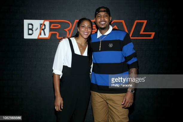 NBA players Candace Parker and Carmelo Anthony attends the B/Real Premiere Event at Kimpton La Peer Hotel on October 19 2018 in West Hollywood...