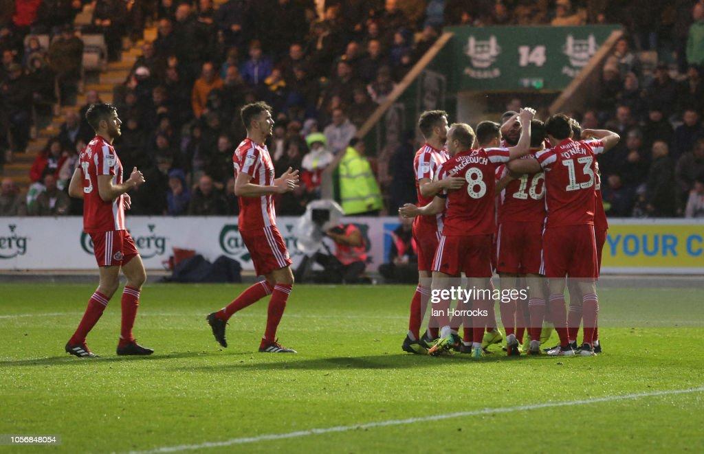Plymouth Argyle v Sunderland - Sky Bet League One : News Photo