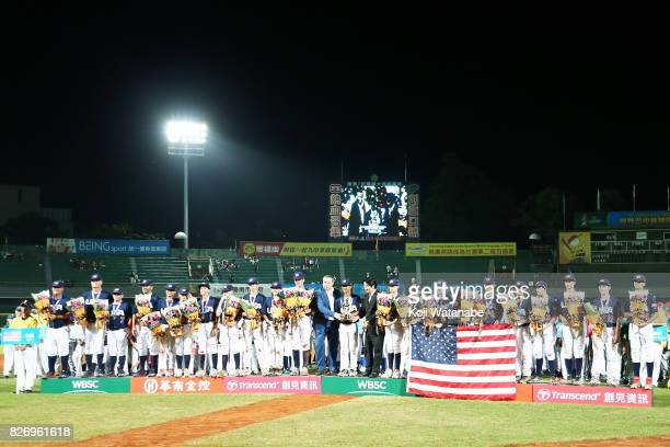 USA players celebrate their 72 Gold Medal victoty during the WBSC U12 Baseball World Cup Gold Medal match between United States and Chinese Taipei on...