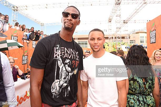 NBA players Chris Bosh and Stephen Curry attend the Nickelodeon Kids' Choice Sports Awards 2016 at UCLA's Pauley Pavilion on July 14 2016 in Westwood...