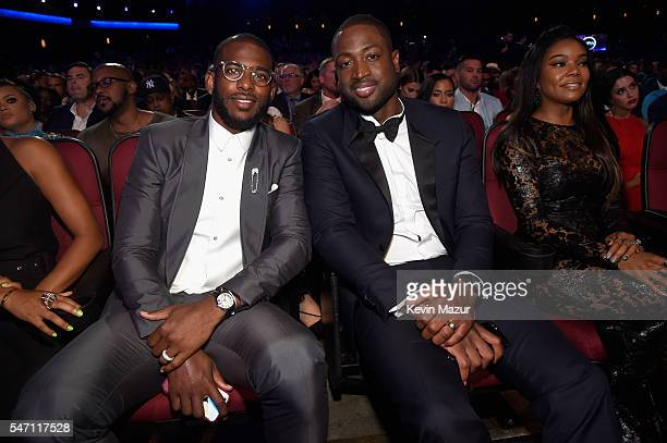 Players Chris Paul and Dwyane Wade attends the 2016 ESPYS at Microsoft Theater on July 13, 2016 in Los Angeles, California.